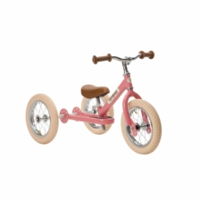 Trybike Steel 2 in 1 Balance Bike Pink Vintage