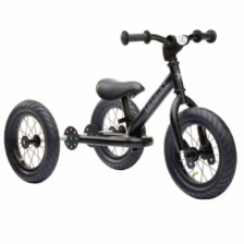 Trybike Steel 2 in 1 Balance Bike Steel Black