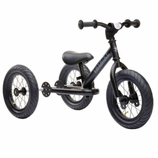 Trybike Steel 2 in 1 Balance Bike Steel Black