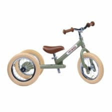 Trybike Steel 2 in 1 Balance Bike Vintage Green