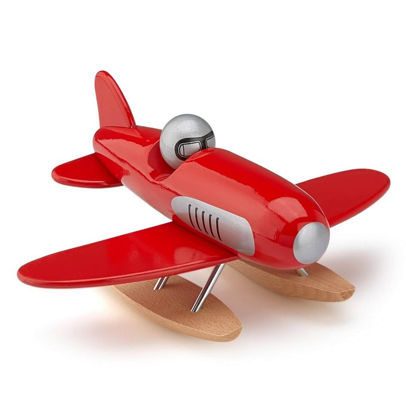Vilac Red Wooden Seaplane - Jadrem Toys