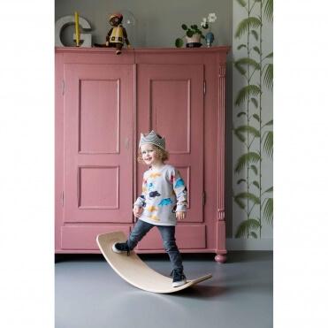 Wobbel Wooden Balance Board with Felt Forrest Green