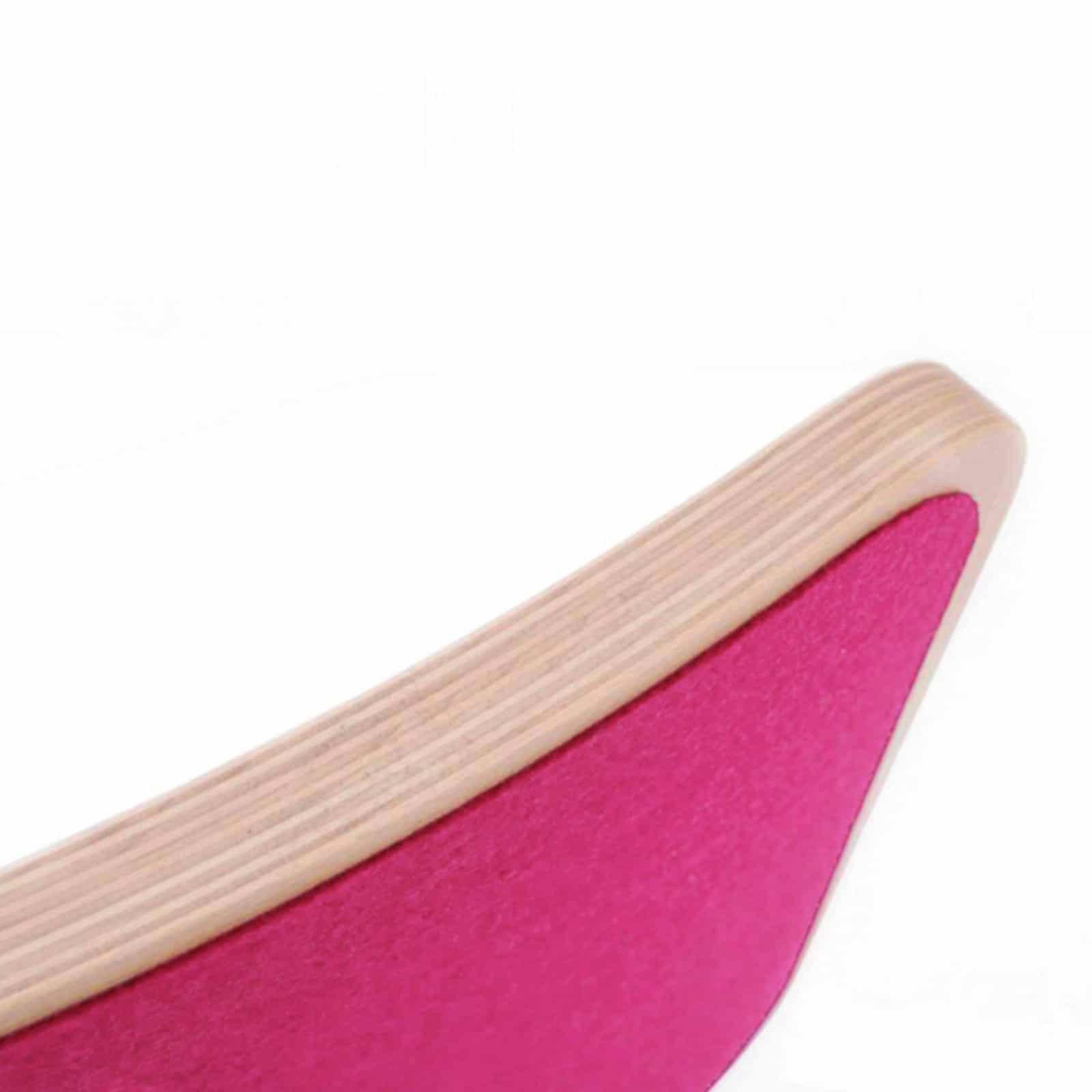 Balance Board Melbourne: Wobbel Wooden Balance Board With Felt Raspberry