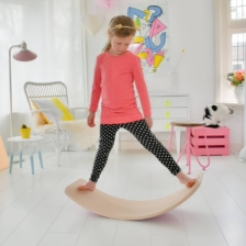 Wobbel Wooden Balance Board with Felt Red
