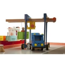 Wooden Gantry Container Crane by New Classic Toys