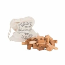 Wooden Story Natural Blocks 100 Pieces in Sack