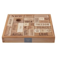 Wooden Story Peace and Love Blocks 29 Pieces