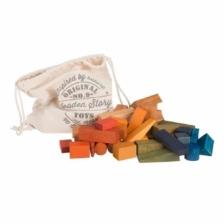 Wooden Story XL Rainbow Blocks 50 Pieces