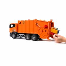 Bruder Scania R Series Garbage Truck Orange 03560 Jadrem
