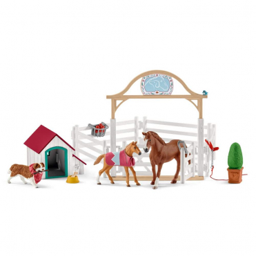 Schleich Horse Club Hannahs Guest Horses with Ruby the Dog